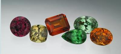 January - Garnets are available in a rainbow of colors.